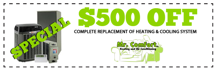 $500 Saving on a complete Heating Replacement