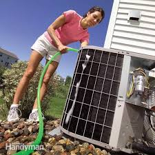 clean debris away from air conditioning unit